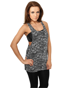Urban Classics TB722 - Ladies Melange Burnout Loose Tank