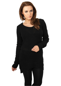 Urban Classics TB739 - Ladies Long Wideneck Sweater