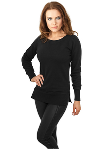 Urban Classics TB784 - Ladies Side Zip Long Crewneck
