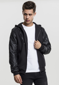 Urban Classics TB824 - Diamond Leather Imitation Sleeve Zip Hoody