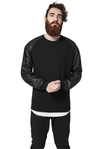 Urban Classics TB845 - Raglan Leather Imitation Crew