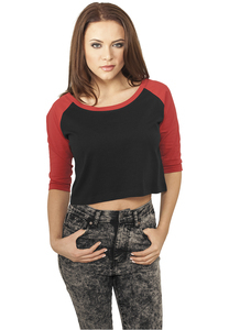 Urban Classics TB924 - Ladies Cropped 3/4 Raglan Tee