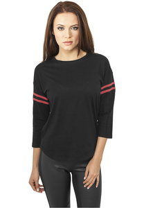 Urban Classics TB927 - Ladies Sleeve Striped L/S Tee