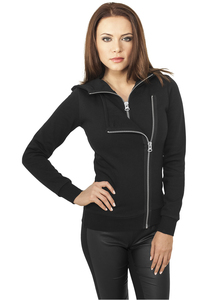 Urban Classics TB941 - Ladies Biker Sweat Jacket