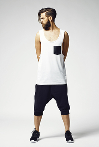 Urban Classics TB965 - Leather Imitation Pocket Loose Tank