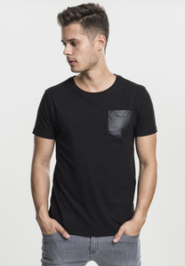 Urban Classics TB970 - Leather Imitation Pocket Tee