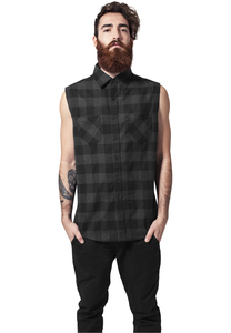 Urban Classics TB999 - Sleeveless Checked Flanell Shirt