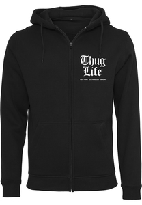 Mister Tee TL007 - Thug Life Chest Cities Zip Hoody