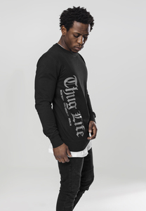 """Mister Tee TL010 - Pullover à col rond """"Thug Life"""" lettrage ancien"""
