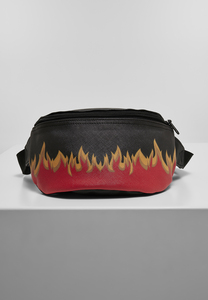 Mister Tee MT1456 - Flame Print Leather Imitation Hip Bag