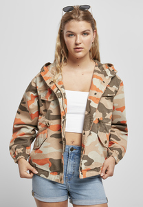 Urban Classics TB3429 - Ladies Oversized Camo Parka Jacket