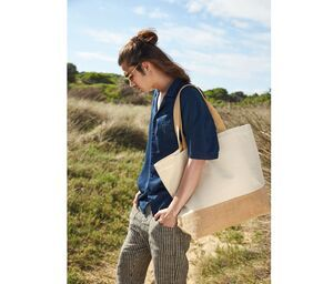 WESTFORD MILL WM452 - Sac shopping XL coton/toile de jute