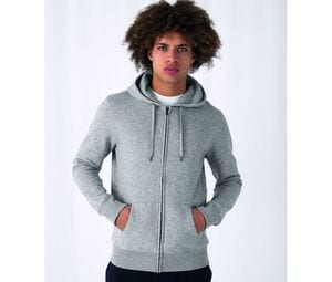 B&C BCU03K - Sweat Capuche zippé KING
