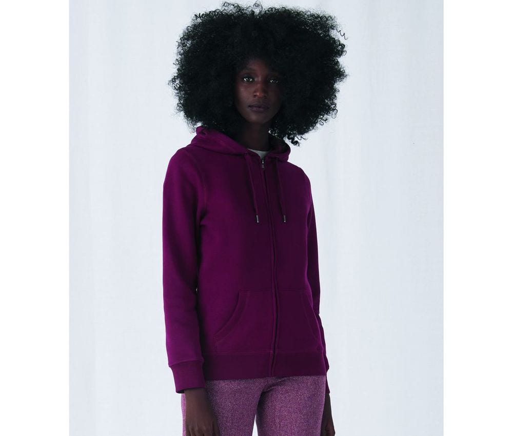 B&C BCW03Q - Sweat Capuche zippé QUEEN
