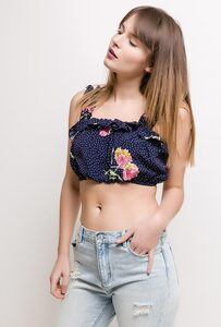 Lilie Rose 1TP3 - Printed Crop top