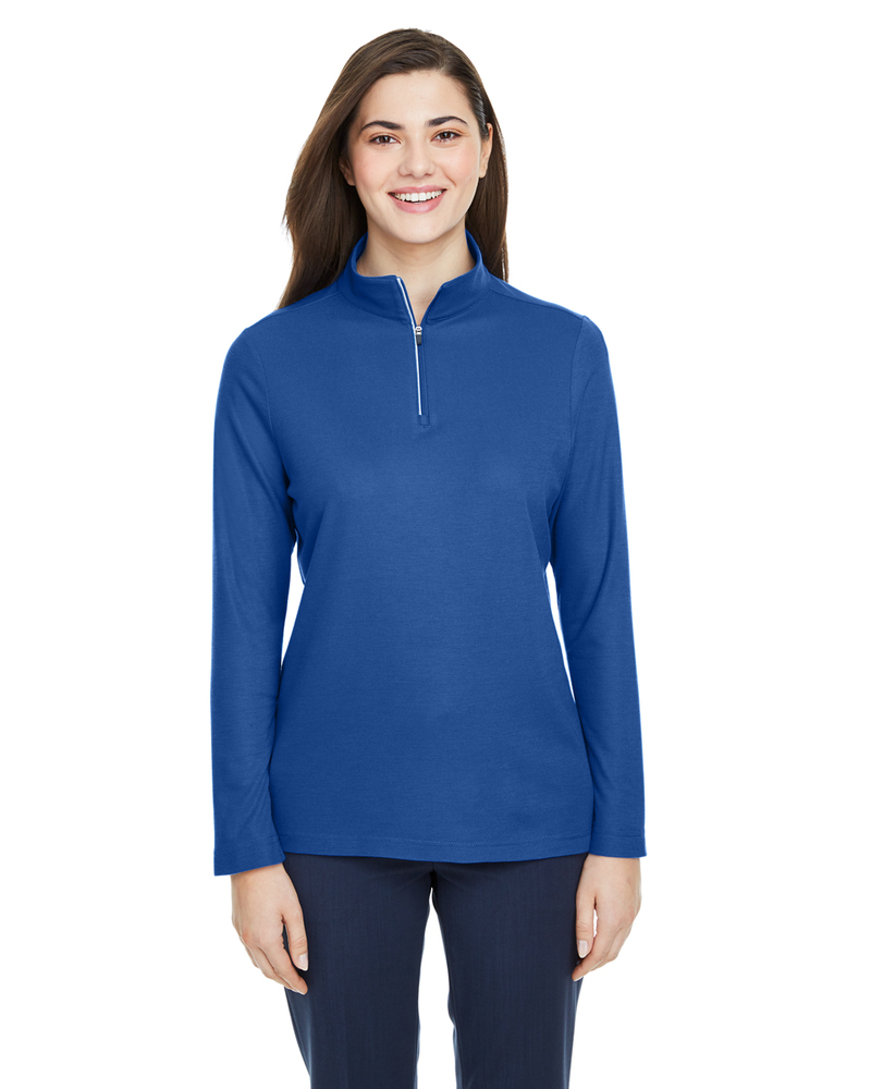 Core 365 CE405W - Ladies Fusion ChromaSoft Pique Quarter-Zip