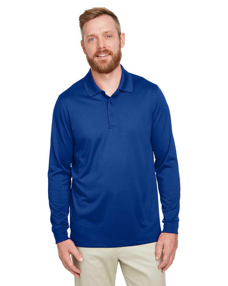 Harriton M348LT - Men's Tall Advantage Long Sleeve Snag Protection Plus IL Polo