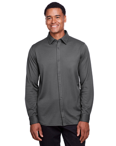 Devon & Jones DG20Z - Mens CrownLux Performance Plaited Button-Down Shirt