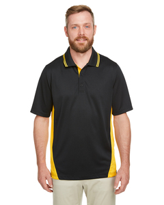 Harriton M386 - Mens Flash Snag Protection Plus IL Colorblock Polo