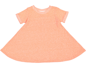 Rabbit Skins 5379 - Toddler Girls Harborside Melange French Terry Twirl Dress