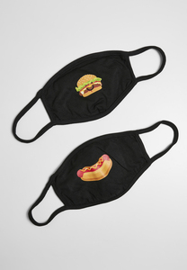 Mister Tee MT1622 - Burger and Hot Dog Face Mask 2-Pack