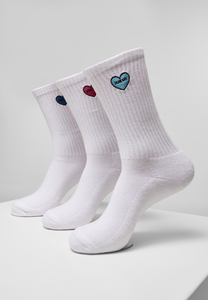 Mister Tee MT2112 - Heart Embroidery Socks 3-Pack