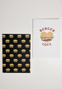 Mister Tee MT2146 - Burger Love Exercise Book 2-Pack