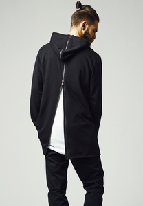 Urban Classics TB1106 - Long Shaped Back Zipped Hoody