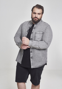 Urban Classics TB2194 - Low Collar Denim Shirt