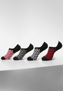 Urban Classics TB4234 - Recycled Yarn Check Invisible Socks 4-Pack