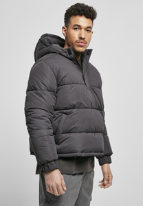 Urban Classics TB4473 - Hooded Cropped Pull Over Down Jacket