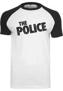 Merchcode MC630 - The Police Logo Raglan Tee wht/blk
