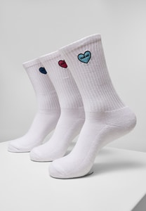 Heart Embroidery Socks 3-Pack