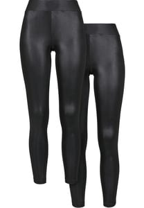 UC Curvy TB3715A - Ladies Synthetic Leather Leggings 2-Pack